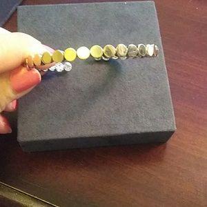 John Hardy gold and sterling silver bangle bracele